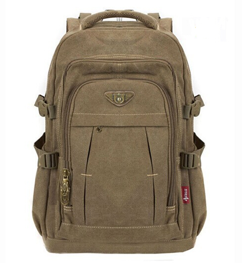 mochila military Vintage Backpack Fashion Men Canvas Backpack Travel Rucksack Shoulder Bag