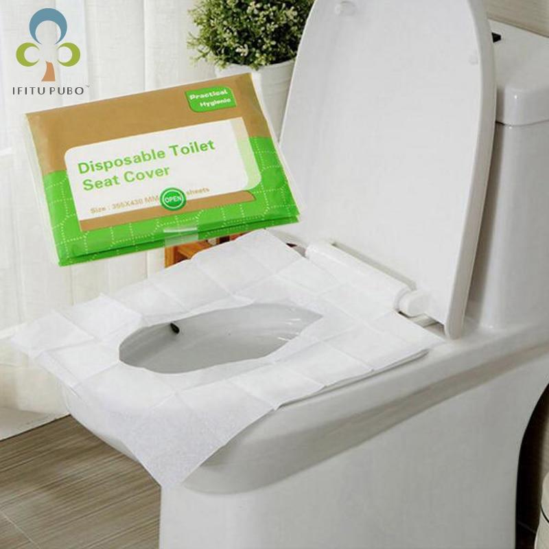 50pcs Portable Disposable Toilet Seat Cover Mat For Travel
