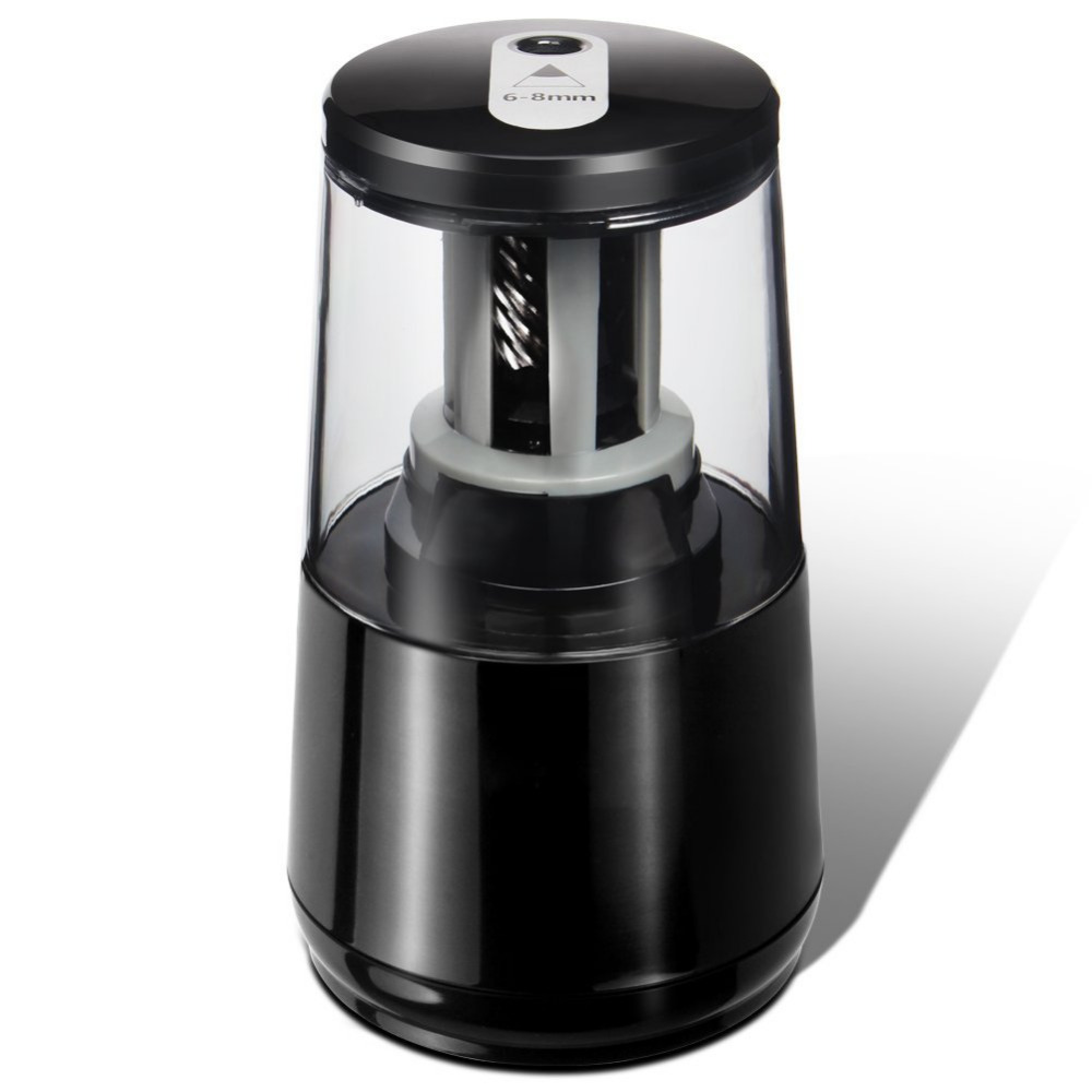 Electric Pencil Sharpener, Heavy-duty Helical Blade for 1000 Uses,AC or 4AA Battery Operated,Fits for No.2 and Pencils(6-8mm)