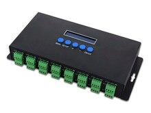 2017 חדש LED אורות Controlers 16 ערוצים Artnet כדי SPI /DMX פיקסל אור בקר 340 פיקסלים * 16CH + שתי יציאות (2x512) DC5V 24V
