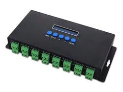 2017 New LED Lights Controlers 16 Channels Artnet To SPI /DMX Pixel Light Controller 340pixels*16CH+two ports(2x512) DC5V-24V