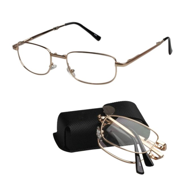 Fashion Presbyopic glasses Fold Metal Frame Far and Near Look Smart ...