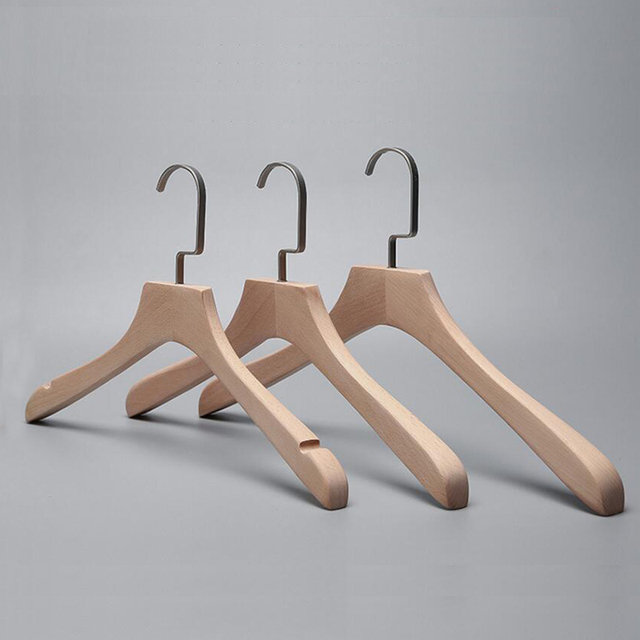 40 Pcs Healthy No Painting Wide Shoulder Wooden Clothes Coats Hanger Fascinating Wooden Coat Hanger Rack