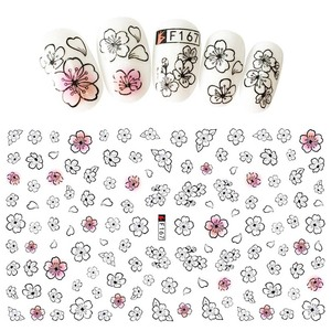 Image 4 - 1Pcs Fashion Patroon Ogen Nail Slider Art Stickers 3D Gemengde Kleur Ontwerp Nail Art Voor 3D Diy Decoraties Decal tips BEF166 573