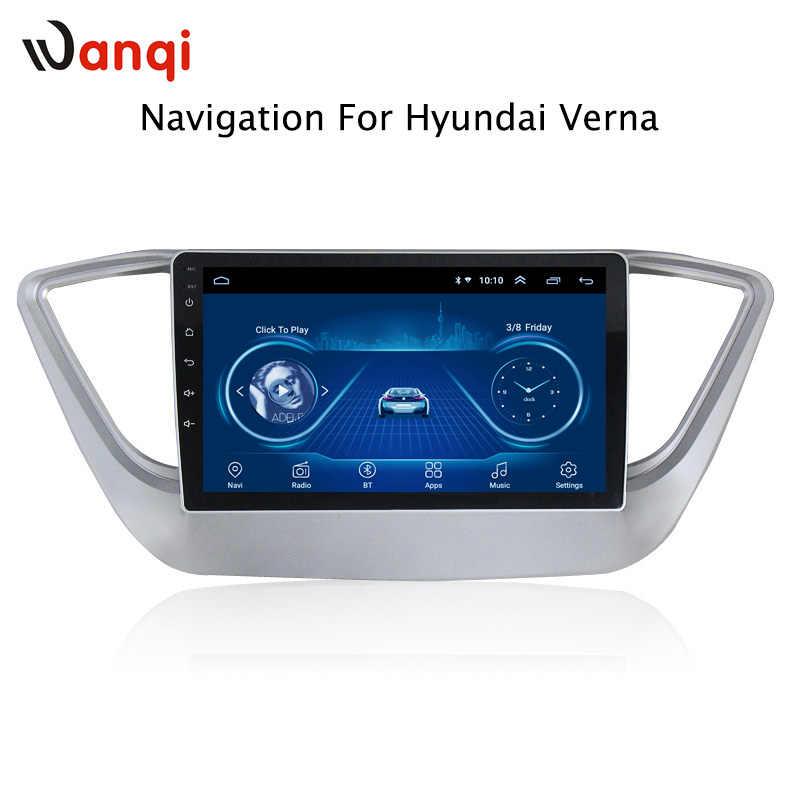 Venta caliente 9 pulgadas Android 8,1 coche Dvd Gps reproductor para Hyundai Verna Solaris 2016-2018 Radio Video navegación bt Wifi