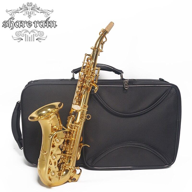 PARTAGER PLUIE sax Bb Laque D'or Saxophone Soprano B-plat Saxophone Musical Professionnel