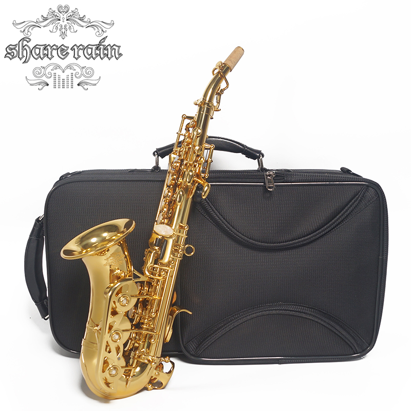 Partager pluie saxo Bb laque or Soprano Saxophone b-flat Saxophone Musical professionnel