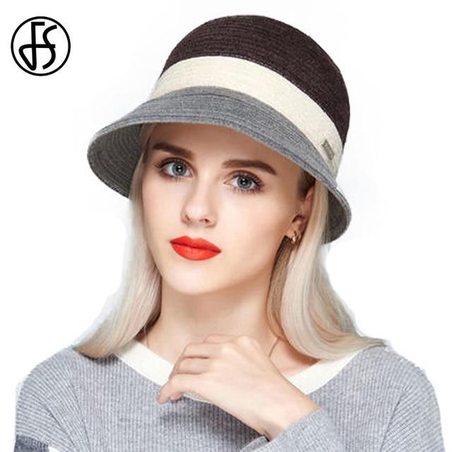 Vintage sombreros mujeres negro Brown ala ancha Fedora sombrero del verano  señora viajes elegante Iglesia sombreros 88e4a587ab0