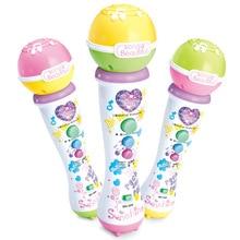 Беспроводной светодиодный микрофон для мальчиков и девочек, микрофон для караоке, пения, детский Забавный подарок, Музыкальный Микрофон, игрушка