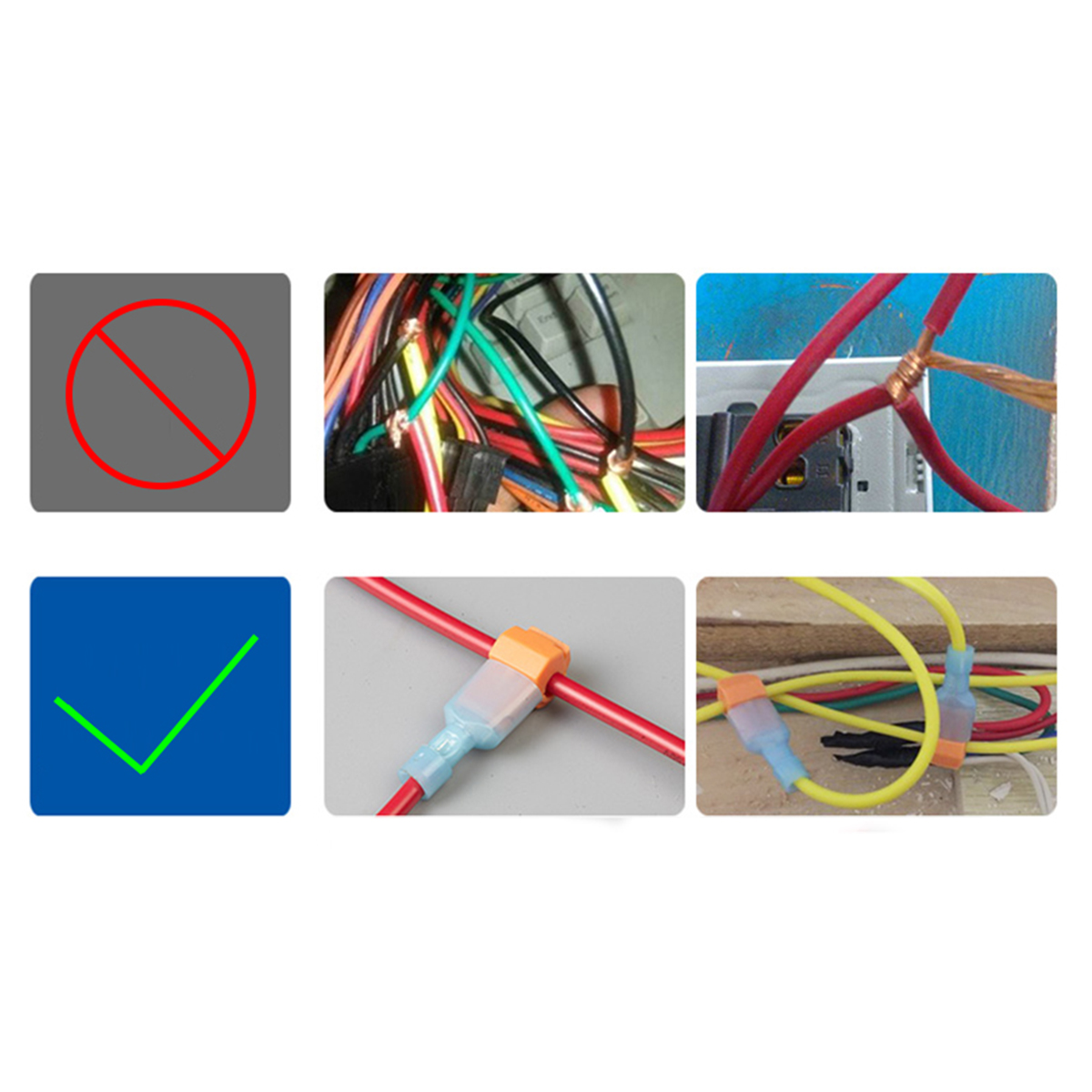 Image 5 - 240pcs T Tap Wire Connectors, Self Stripping Quick Splice Electrical Wire Terminals, Insulated Quick Disconnect Spade Terminals-in Connectors from Lights & Lighting