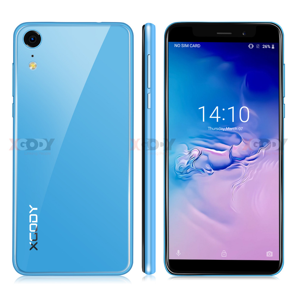 New XGODY XR 3G Smartphone 5.5 Android 8.1 MT6580 Quad Core 1.3GHz 2GB RAM 16GB ROM Cell phones 5.0MP 2500mAh Mobile PhoneNew XGODY XR 3G Smartphone 5.5 Android 8.1 MT6580 Quad Core 1.3GHz 2GB RAM 16GB ROM Cell phones 5.0MP 2500mAh Mobile Phone