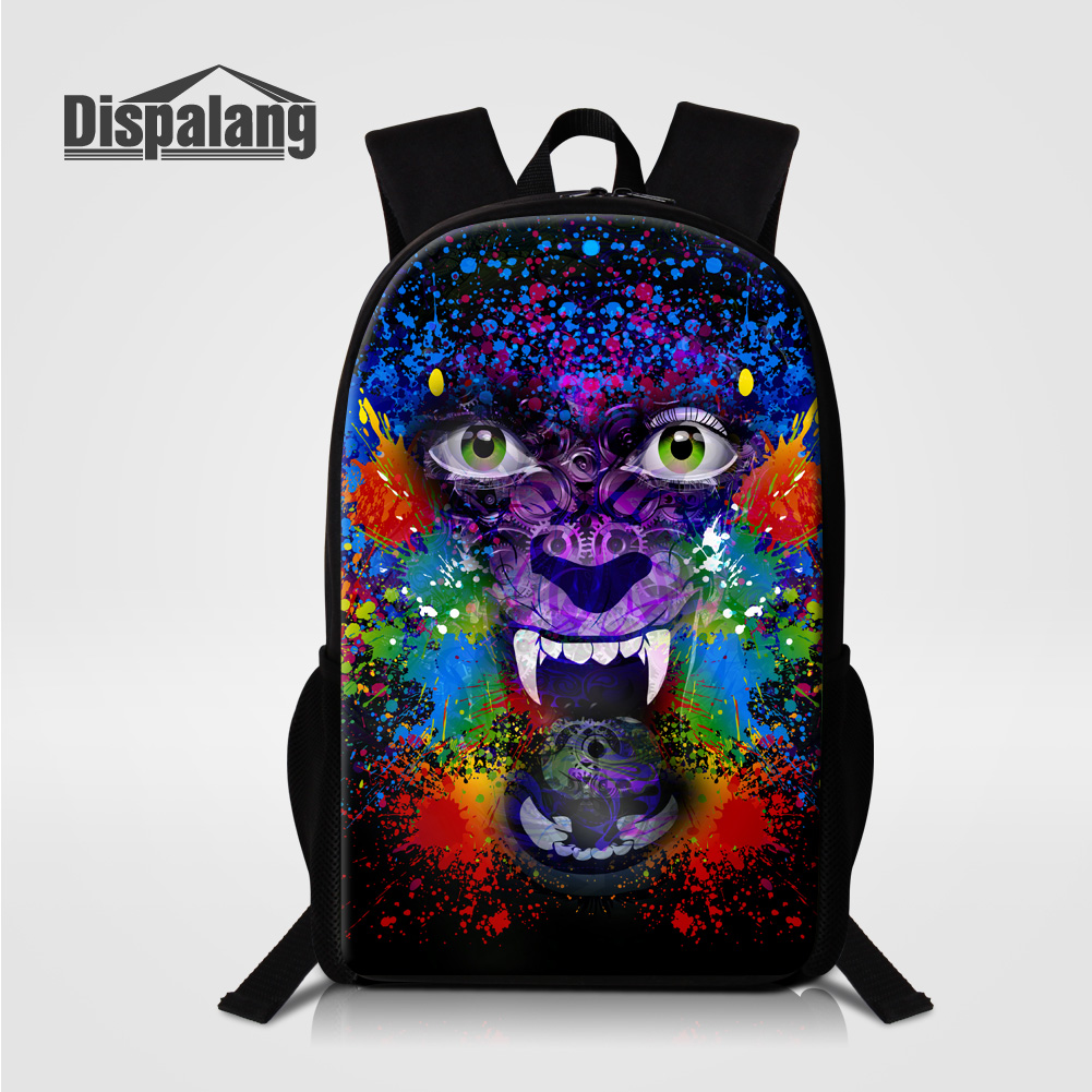 Dispalang Personalized Design Skull Children School Bags Colorful  Illustration Backpack For Teenagers Rucksack Women s Bagpacks-in Backpacks  from Luggage ... 918450c9dc42b