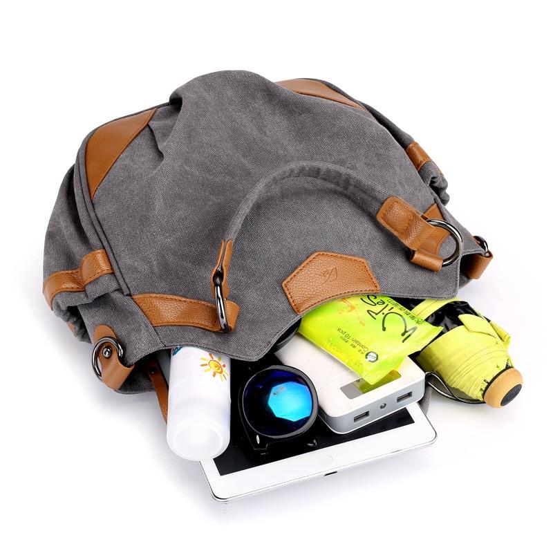 2019 Fall New Large Capacity Single Shoulder Bag Multi Function Portable Crossbody Bag For Women Leisure Fashion Canvas Tote Bag