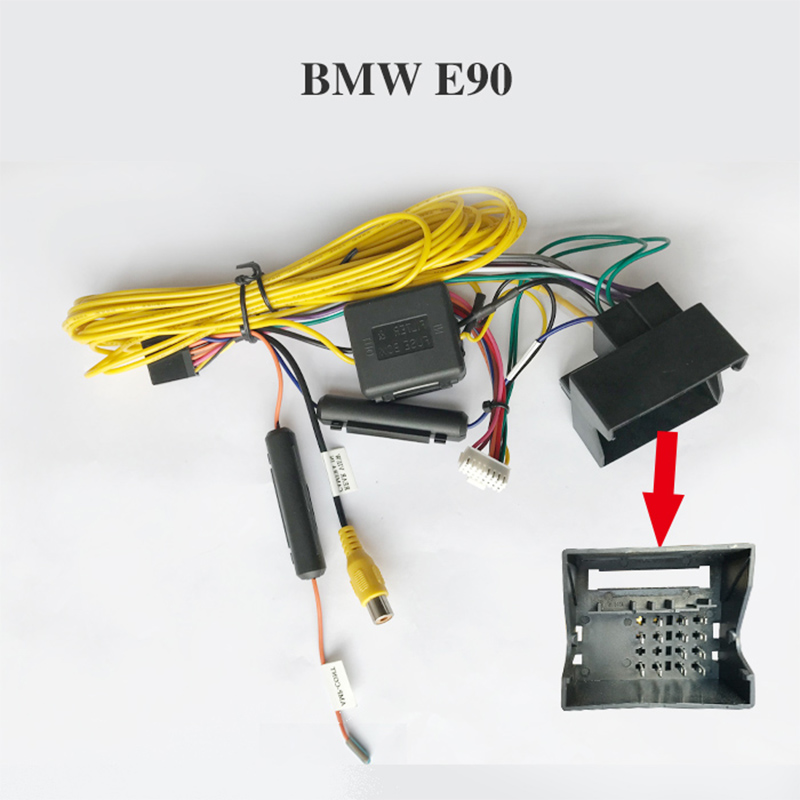 New Hot Special ARKRIGHT Wiring Harness Cable For BMW E90 Radio Head Unit  Adaptor| | - AliExpressAliExpress