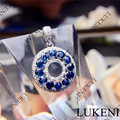 LUKENI L-0013 Women Lady silver round shapes sapphire Pendants best gift
