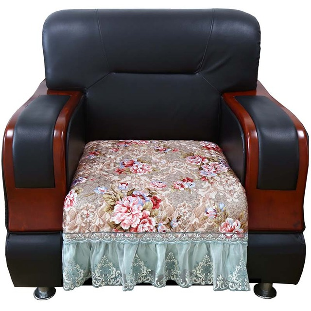Europe Vintage Slipcover Plush Corner Sofa Cover Quilted Sofa