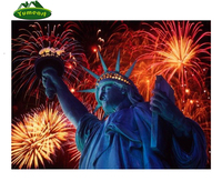 5D DIY Diamond Painting Famous Retro Statue Of Liberty Picture Pattern Rhinestones Fireworks Cross Stitch Needlework