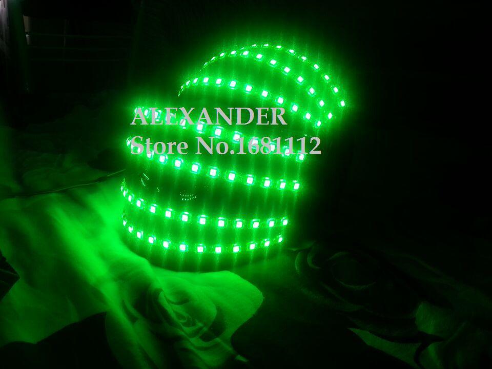 LED helma / Světelná helma / Alexander robot