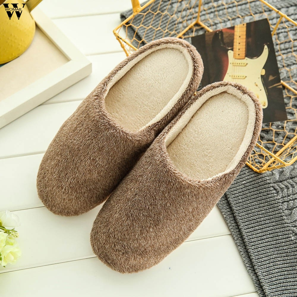 Soft Plush Home Slippers Men Indoor Cotton Shoes Big Size Winter Casual Sneakers For Man Floor Warm Furry Slipper  Jan16