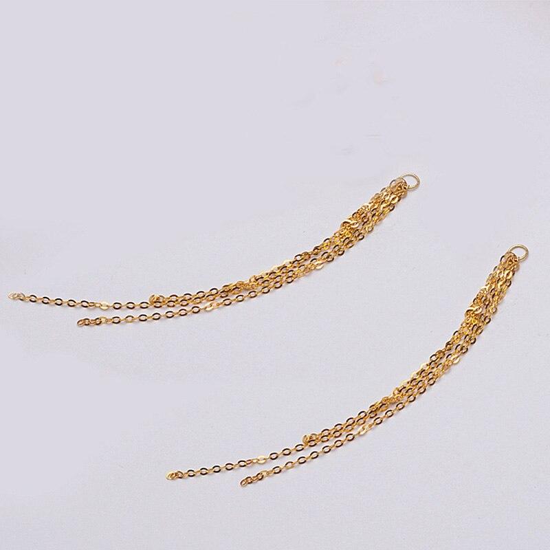 Au750 18 k chaînes en or gland pour boucles d'oreilles aux femmes accessoires de bijoux à bricoler soi-même design de mode