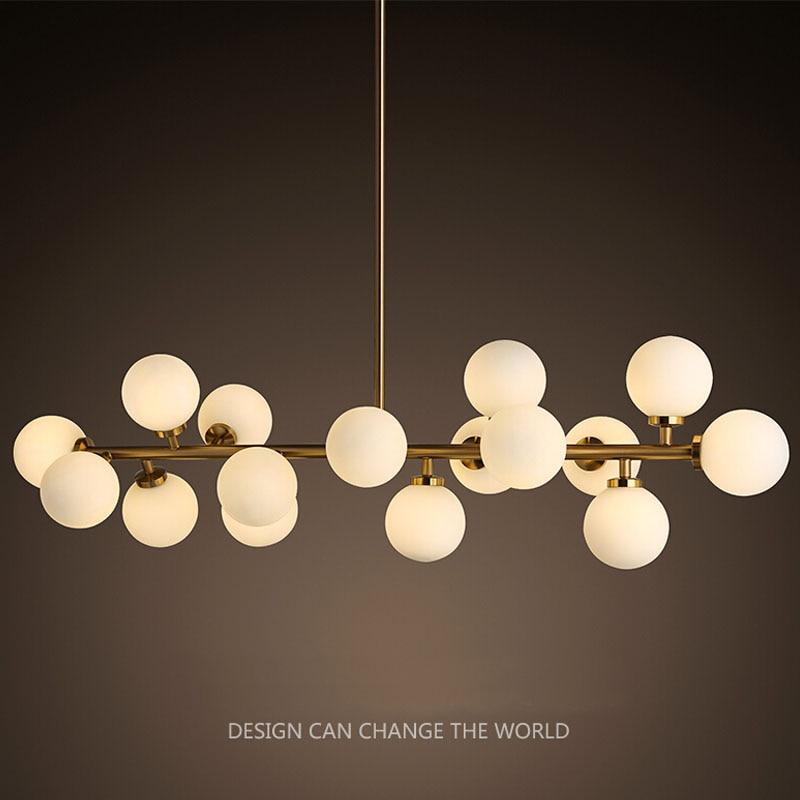 Modern led chandelier light fitting 16 led lights bubble for Suspension led exterieur