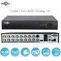 16CH 5in1 AHD DVR Поддержка CVBS TVI аналоговая AHD камеры HD IP P2P облако H.264 VGA HDMI видео рекордер RS485 аудио Hiseeu