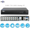 16ch 5in1 ahd dvr apoio cvbs tvi ahd câmeras ip analógicas hd p2p nuvem h.264 vga hdmi gravador de vídeo rs485 áudio hiseeu