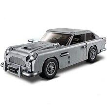Expert James Bond Aston Martin DB5 Compatible legoergy Racing 10262 Creator Model Building Blocks Bricks Christmas Toys Gifts