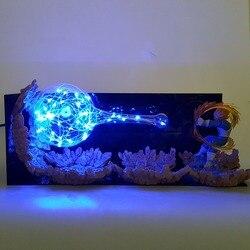 لعبة دراغون بول Z فيغيتا Led Kamehameha الإضاءة المصباح الكهربي لعبة دراغون بول سوبر فيغيتا DBZ الجدول مصباح Led أضواء ليلية ديكور المنزل