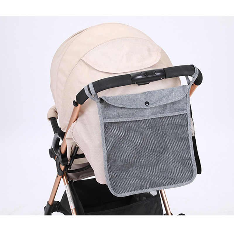 กระเป๋ารถเข็นเด็กทารกตะกร้ารถแขวนเก็บกระเป๋าสำหรับรถเข็นเด็ก Mummy กระเป๋า Buggy Organizer สีทึบรถเข็นเด็กอุปกรณ์เสริม
