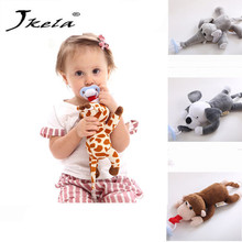 [Jkela] Newest Removeab Baby Boy Girl Dummy Pacifier Chain Clip Plush Animal Toys Soother Puting Holder (not include Pacifier)
