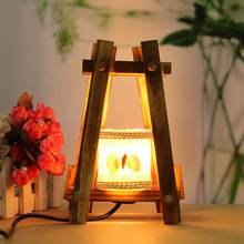 Vintage Retro Table Light For Bedroom Living Romm Night Light Table Lamp Desk Reading Light Wooden