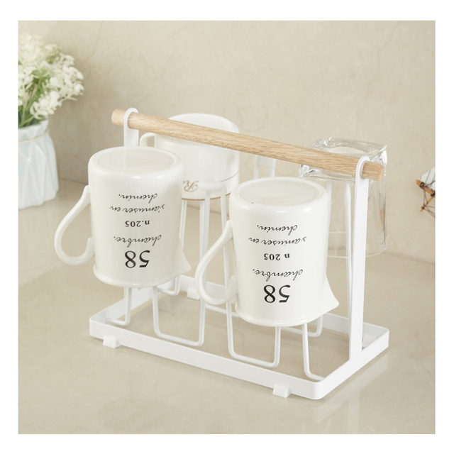 1Pcs 6 cup folding cup frame kitchen storage device glass drainage ...