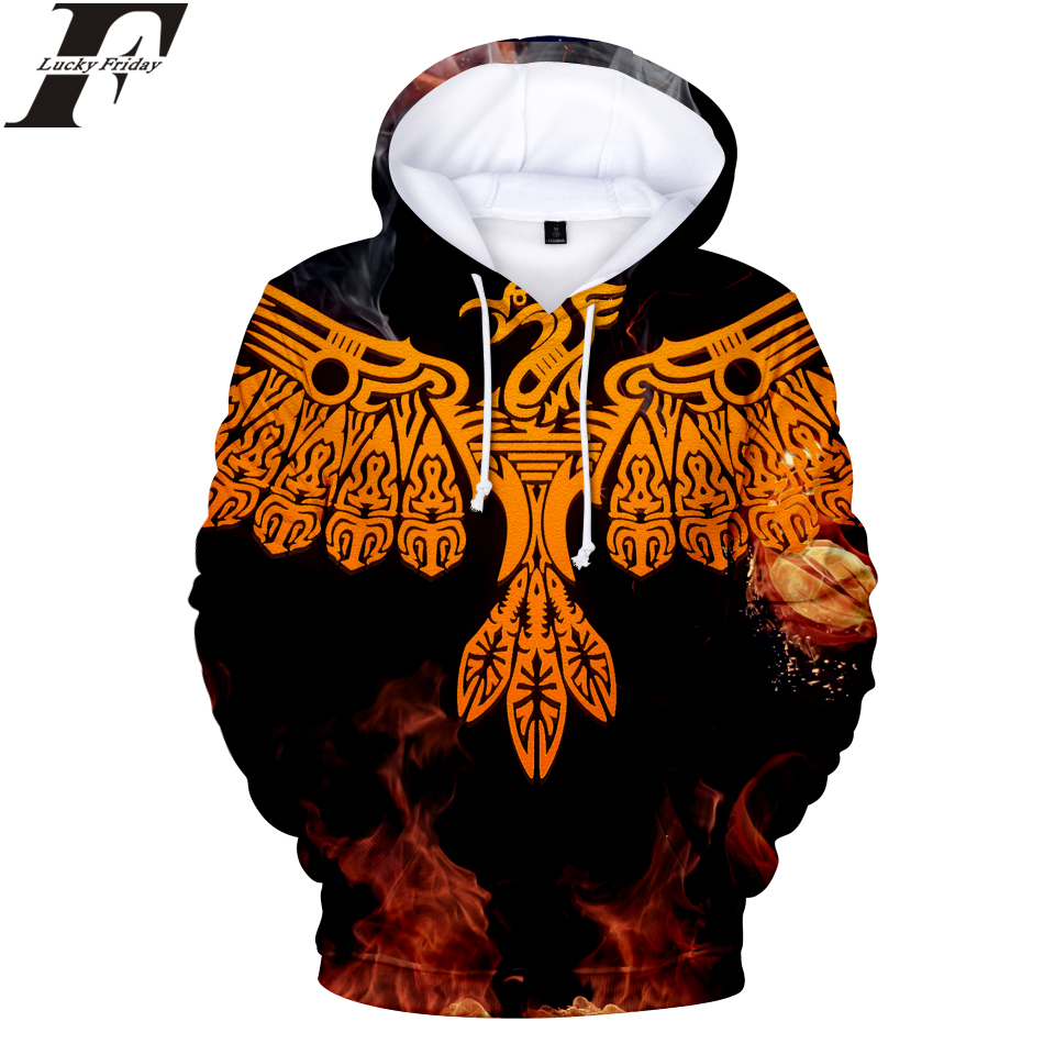 LUCKYFRIDAYF 2018 FireBird 3D Hoodies Sweatshirt Anime Women/Men Hoodies Fashion Hoodies 2018 Hip Hop Style Casual Clothes