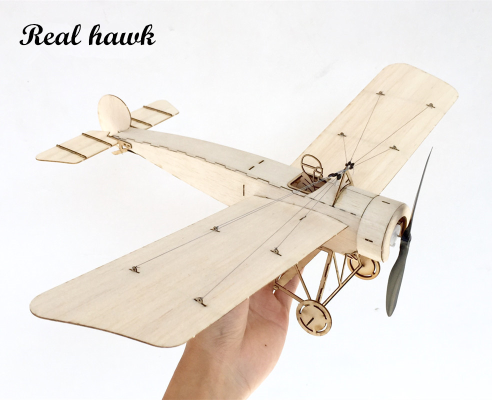 MininimumRC Plane Laser Cut Balsa Wood Airplane Kit Fokker E3 Frame tanpa Cover Free Shipping Model Building Kit