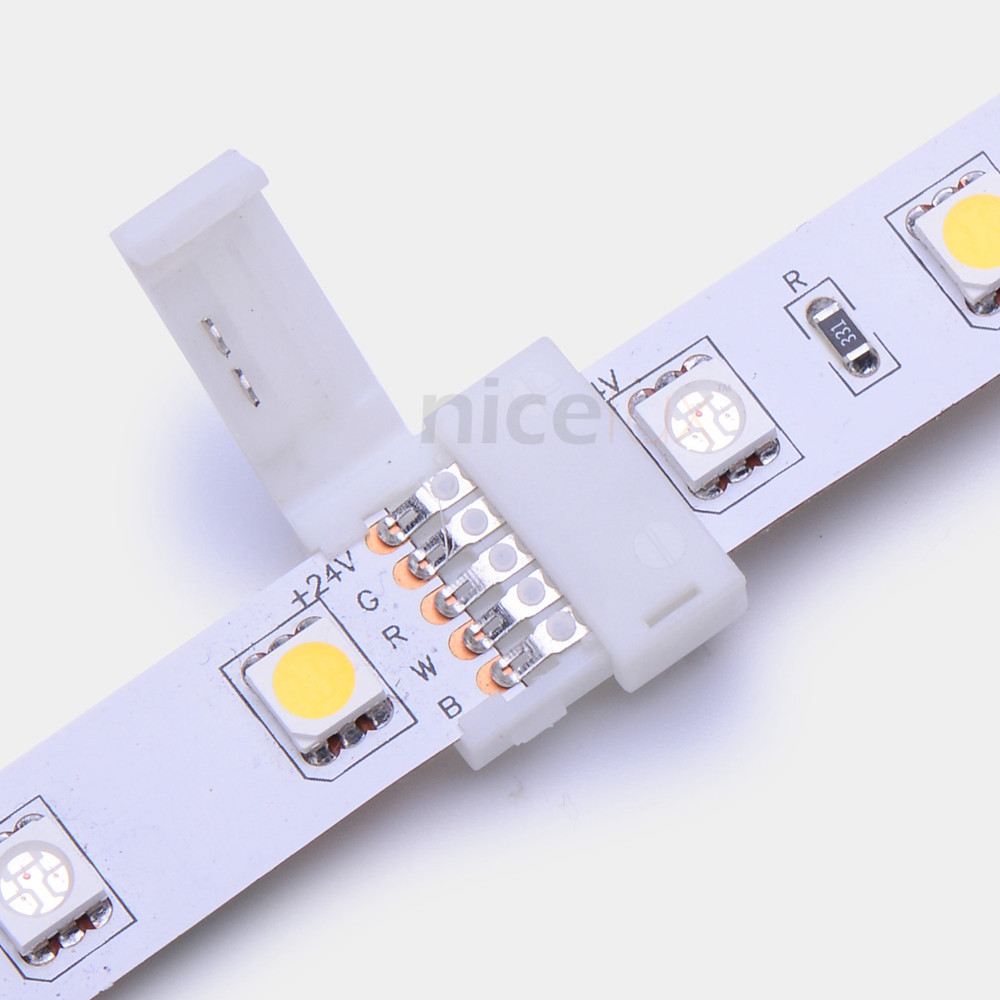 5pcs RGBW LED Strip Connector 5 pin 12mm 5050 strip to strip joint for 12 24V