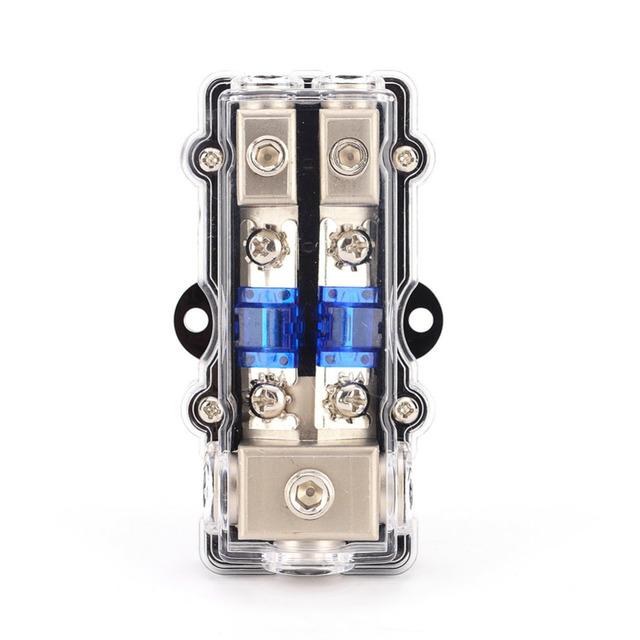 Special Price Universal Car Auto Vehicles Audio Amplifier 1 in 2 ways Out Fuse Holder Fuse Box High Quality New