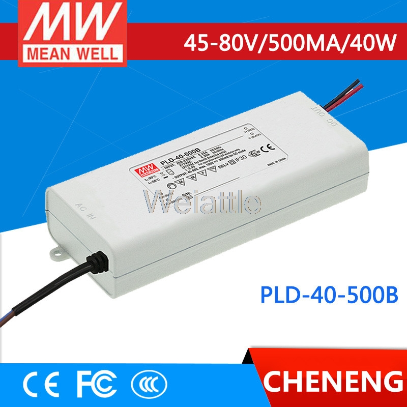 MEAN WELL original PLD-40-500B 80V 500mA meanwell PLD-40 80V 40W Single Output LED Switching Power Supply pld 1201 pld 1202 pld 1203 pld 1204 pld 1205 pld 1206 pld 2201 pld 2202 pld 2203 dc 12v dc 24v mini water small pump