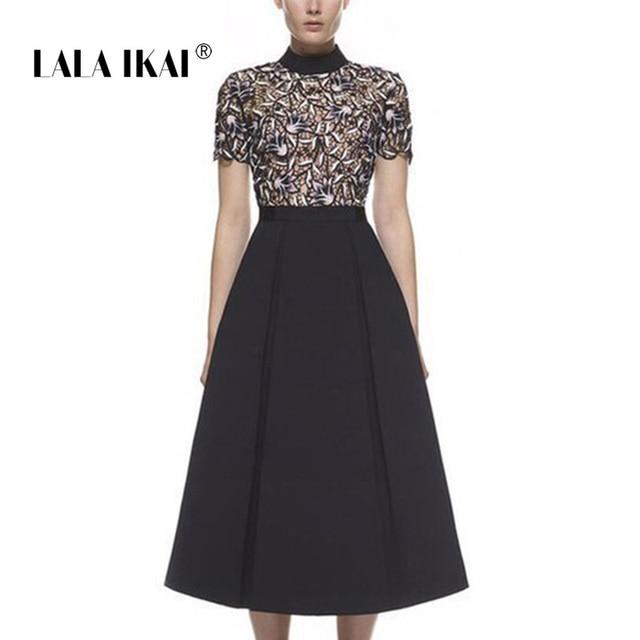 112ff515d08e 2018 New Brand Design Nightshade Midi Dress Women Sexy Guipure Lace  Turtleneck Vintage Dresses Tunic Dresses Vestidos QWA1022-45