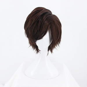 Image 5 - Game OW Overwatch Tracer Short Brown Cosplay Wig Synthetic Halloween Costume Party Stage Play Brown Hair Wigs