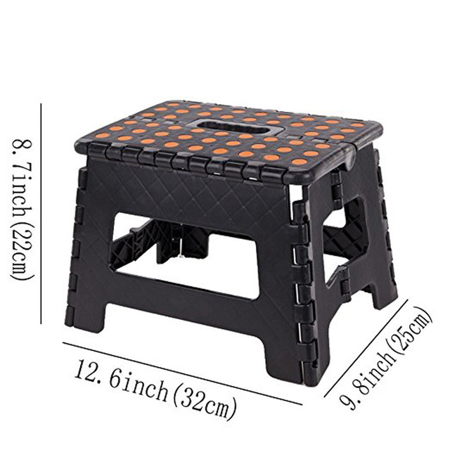 Step Stool Plastic Seat Folding Chair Camping Outdoor  Fishing Adult kids