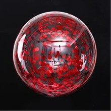 Red confetti balloon 5pcs/lot 18inch round transparent Bobo ball decorations wedding balloons birthday party baloons