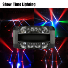 good effect 8pcs 10W RGBW 4 IN 1 mini led beam spider moving head light good use for Club Party show home entertainment dance цена и фото