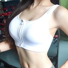 White Sport Bra sport top de las mujeres Anti-UV Breathable Plus Size Quick Dry Sports Bra