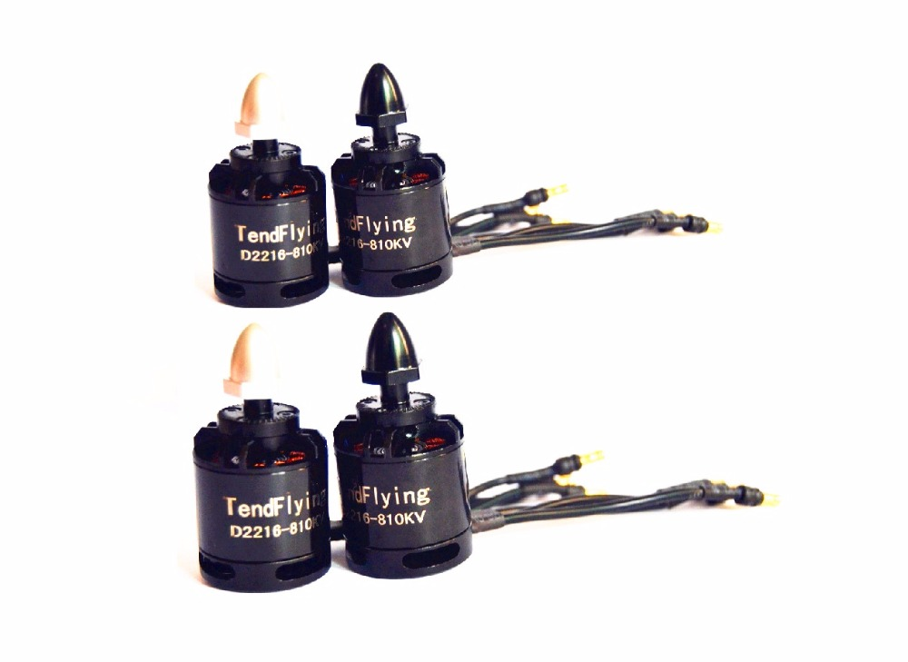 4x100% TendFlying 2216 810kv/1100kv/1250KV moteur Brushless CW CCW forRC multi-copter Quad-Copter
