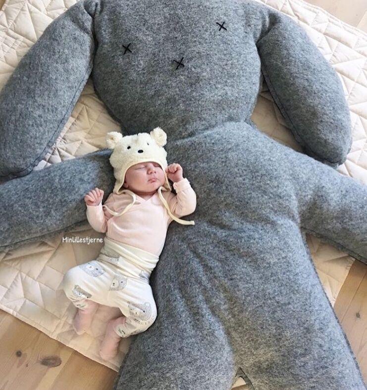 Bébé nouveau-né jouets 0 12 mois bébé peluche tapis de jeu ins grand lapin poupée pour prendre des Photos bébé garçon jouets Brinquedos Para Bebe