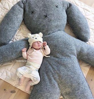 Baby Newborn Toys 0 12 Months Baby Plush Play Mat ins Big Rabbit Doll for Taking Photos Baby Boy Toys Brinquedos Para Bebe