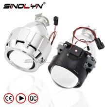 SINOLYN Car Styling LHD RHD Retrofit WST Mini HID H1 2.5 inch Bi-xenon Projector Lens Headlight lenses fits H4 H7,Use H1 Bulb