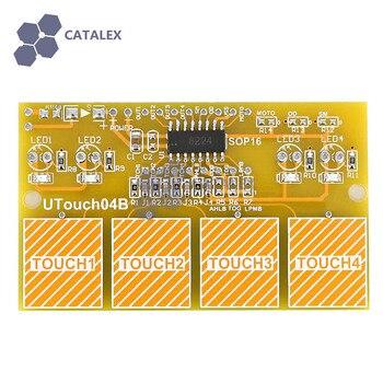 4 канала против вмешательства цифровой емкостный сенсорный Сенсор модуль коммутатора для Arduino