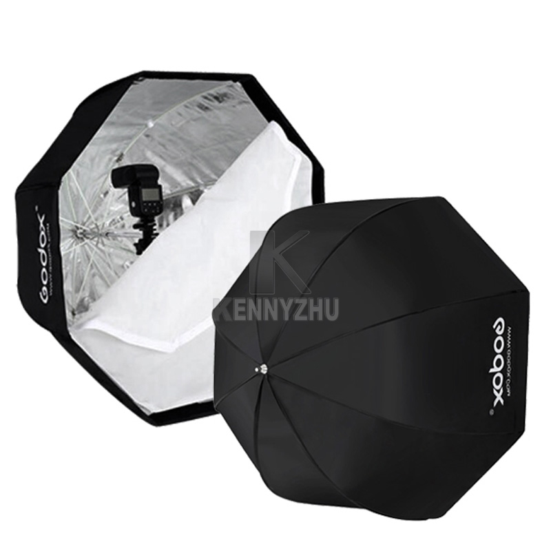 Andoer 80cm//31.5in Octagon Umbrella Softbox Brolly Reflector with Honeycomb Grid Carbon Fiber Bracket for Speedlite Flash Light